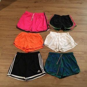 Nike, Adidas shorts